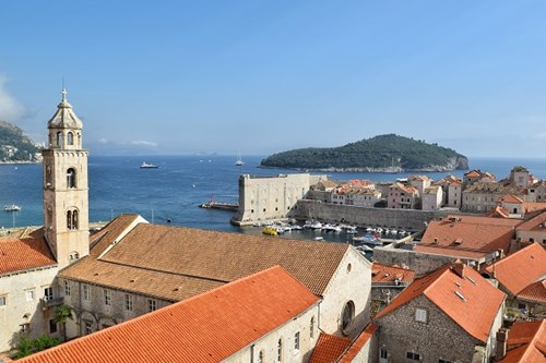 View of Lokrum from Dubrovnik Walls