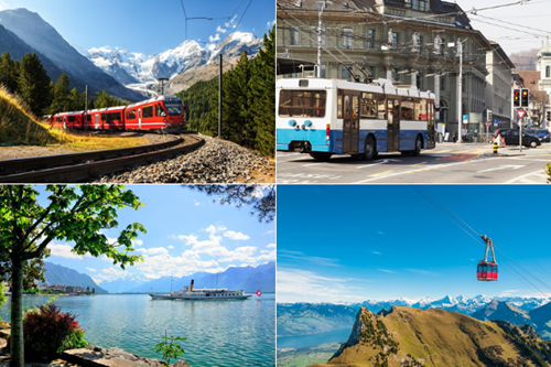 Extensive Swiss Transport Network