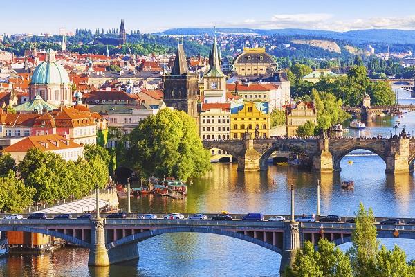 Vltava River Through Prague
