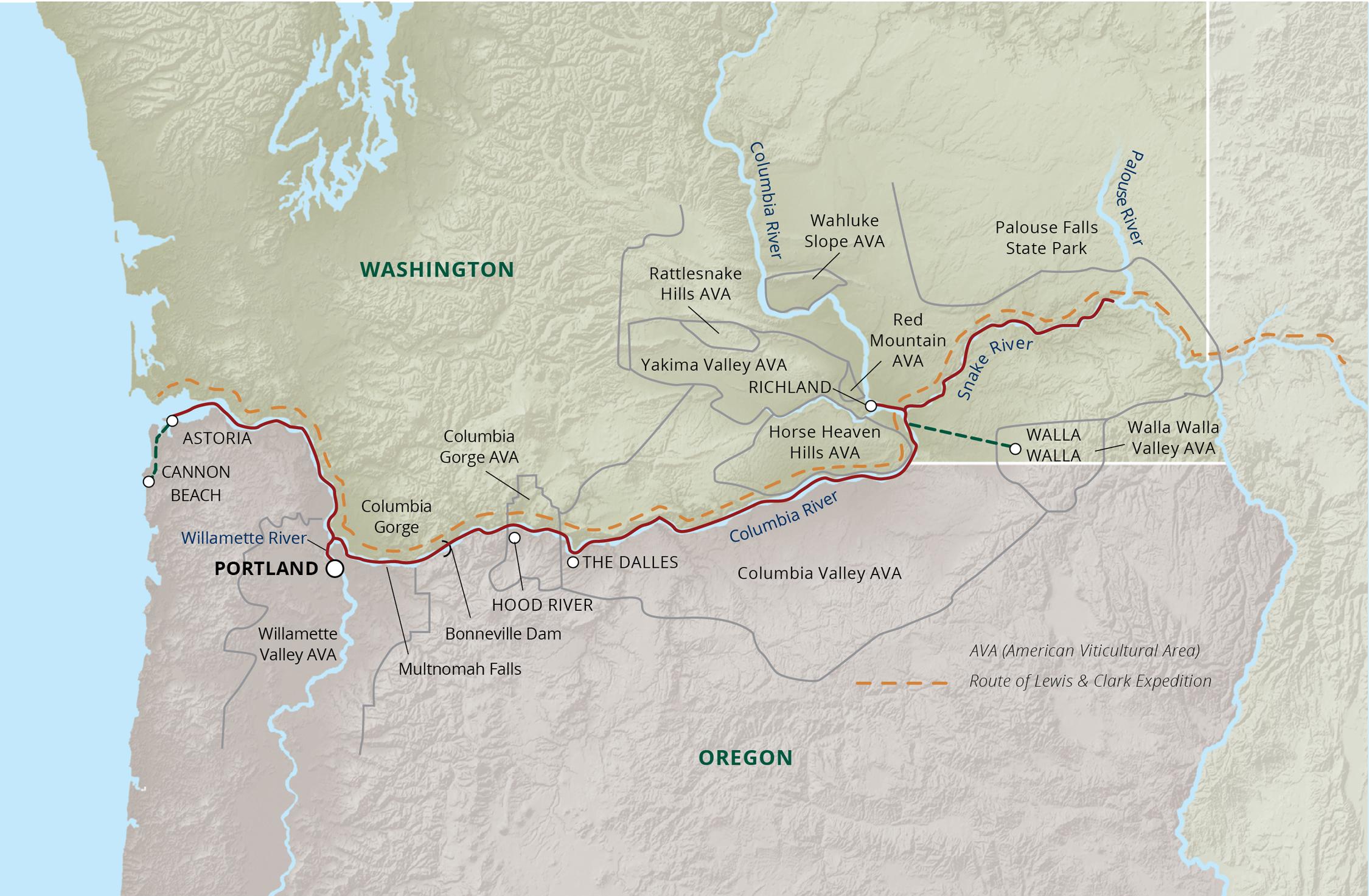 Ameritage River Cruise Map