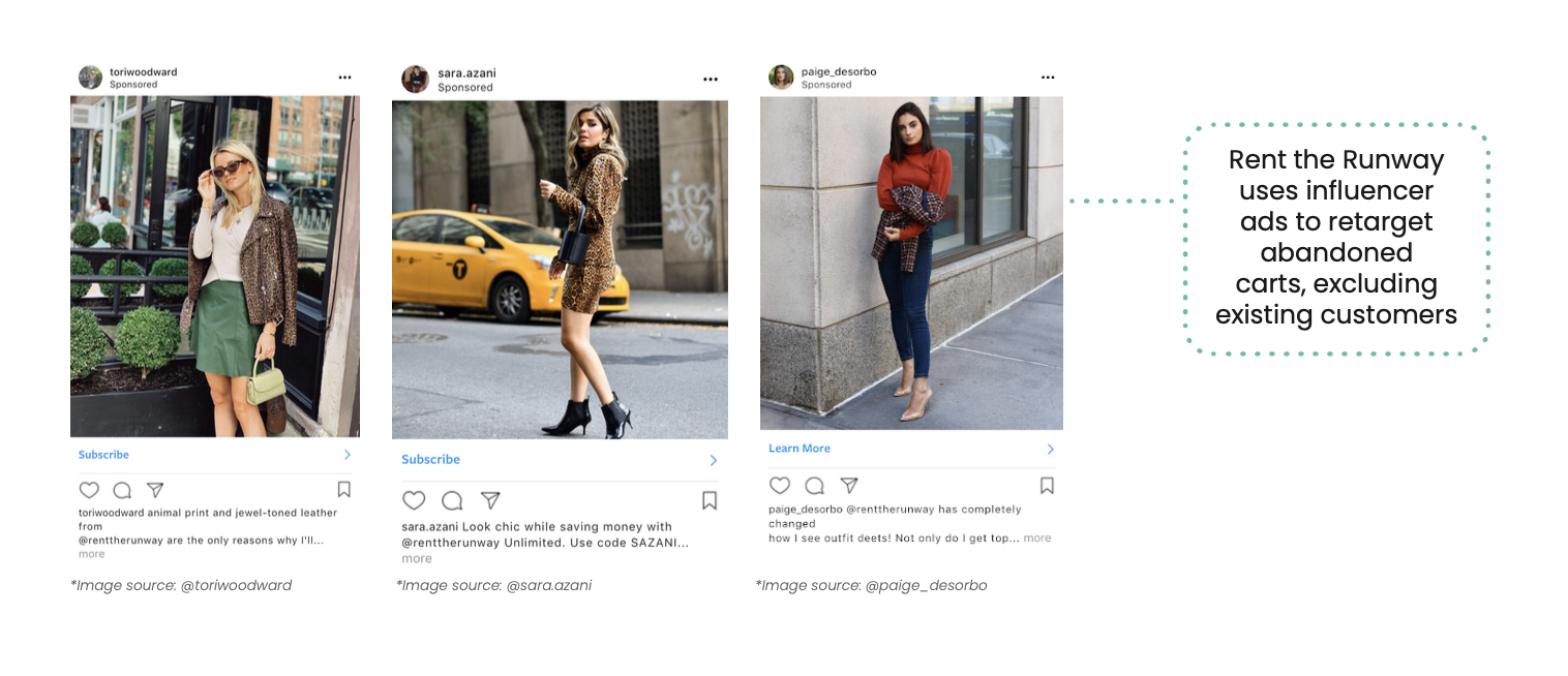 Examples of influencer ads