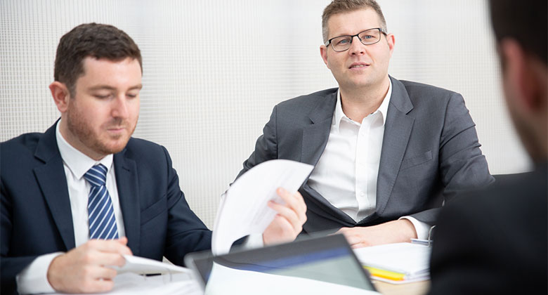 men doing a consultation