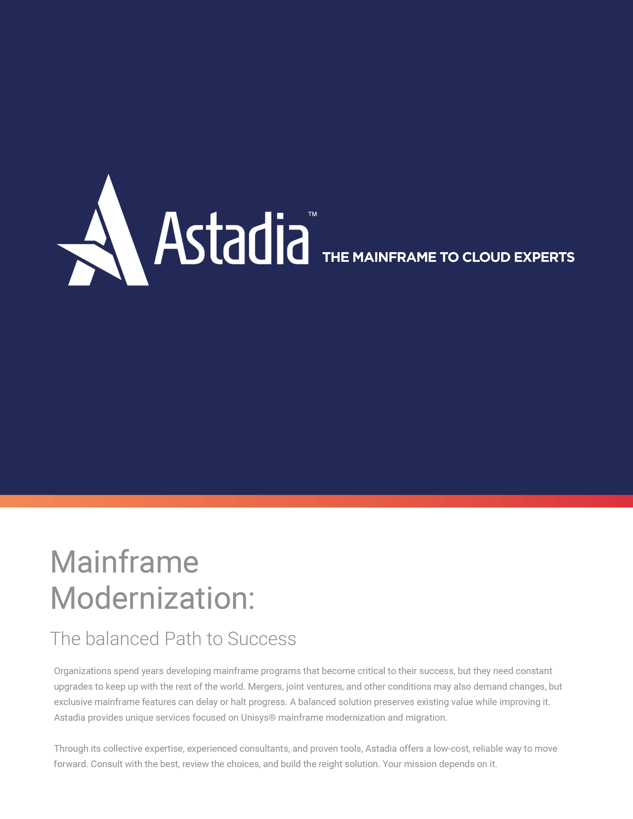 Mainframe Modernization: The Balanced Path to Success