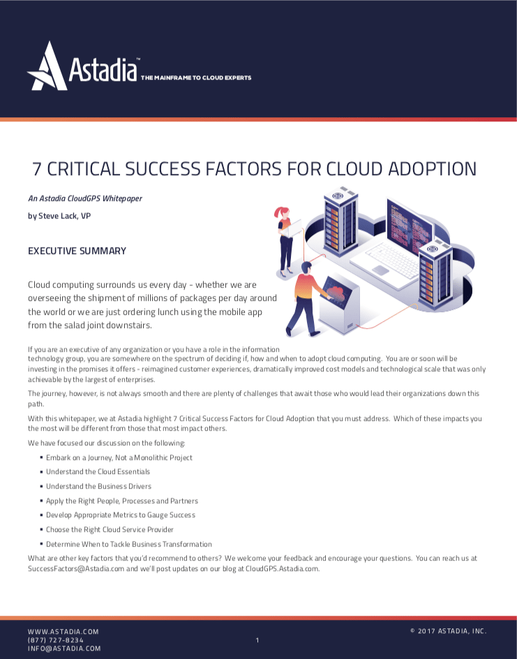 7 Critical Success Factors for Cloud Adoption