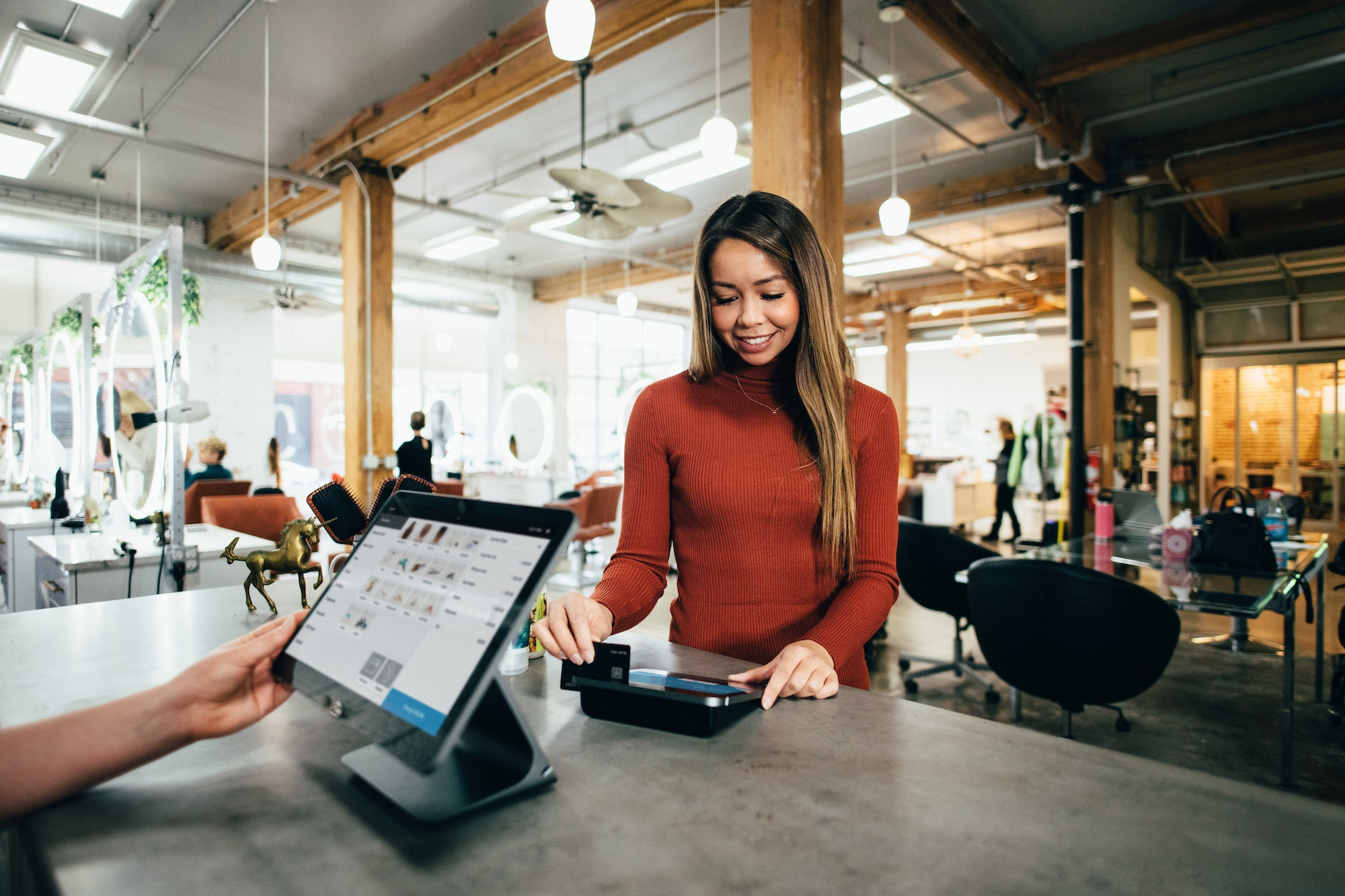 Customer shopping via a custom web application