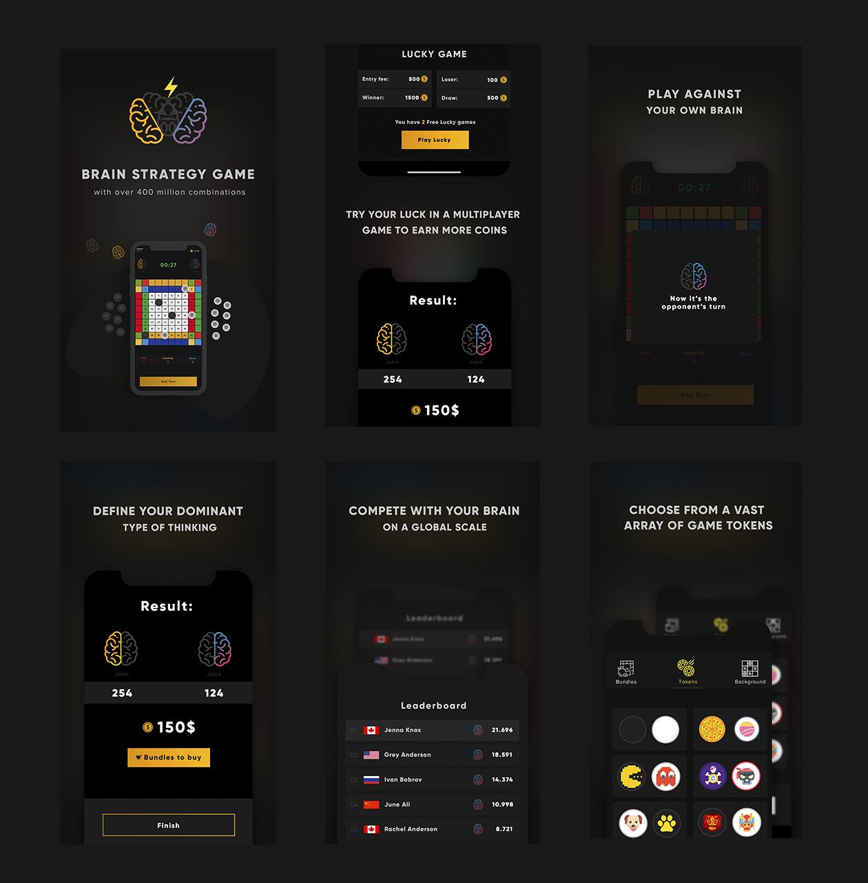 CTOR Game App Screens