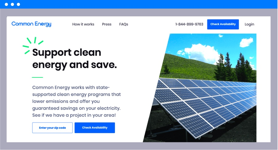 savings with clean energy