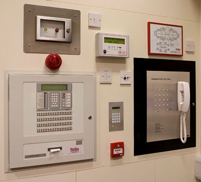 Photo of a Analogue Addressable Fire Alarm Panel