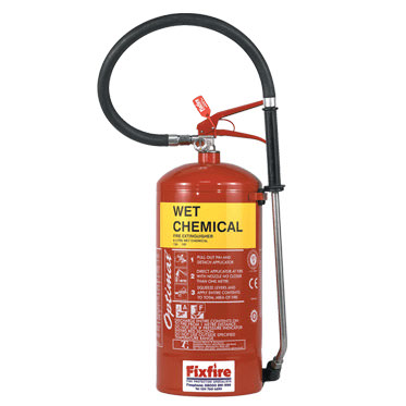 Photo of a Wet Chemical Extinguisher
