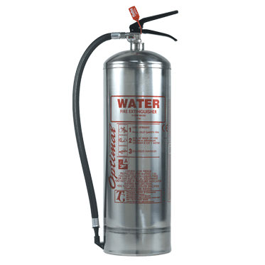 Photo of a Stainless Steel Water Fire Extinguisher