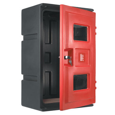 Photo of a Double Extinguisher Cabinet