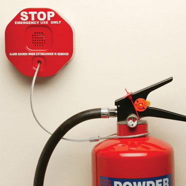Photo of a Fire Extinguisher Theft Stopper