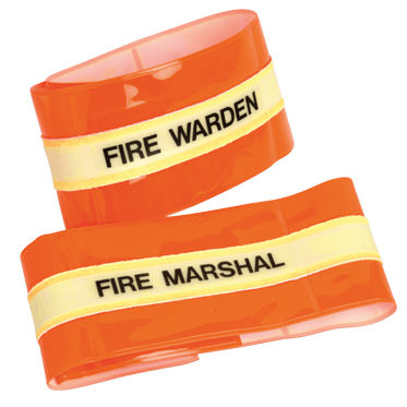 Photo of a Fire Warden/Marshal Armband