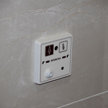 Photo of a Non Audio Call Point with integral infra-red receiver