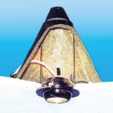 Photo of an Intumescent Downlighter Cover cone version