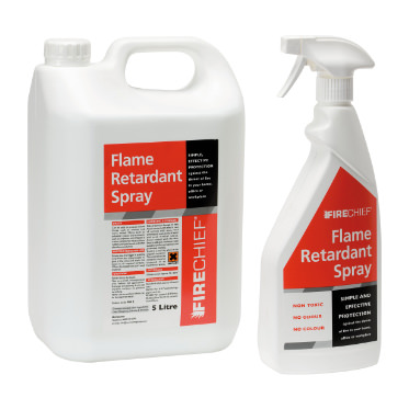 Photo of two Flame Retardant Sprays
