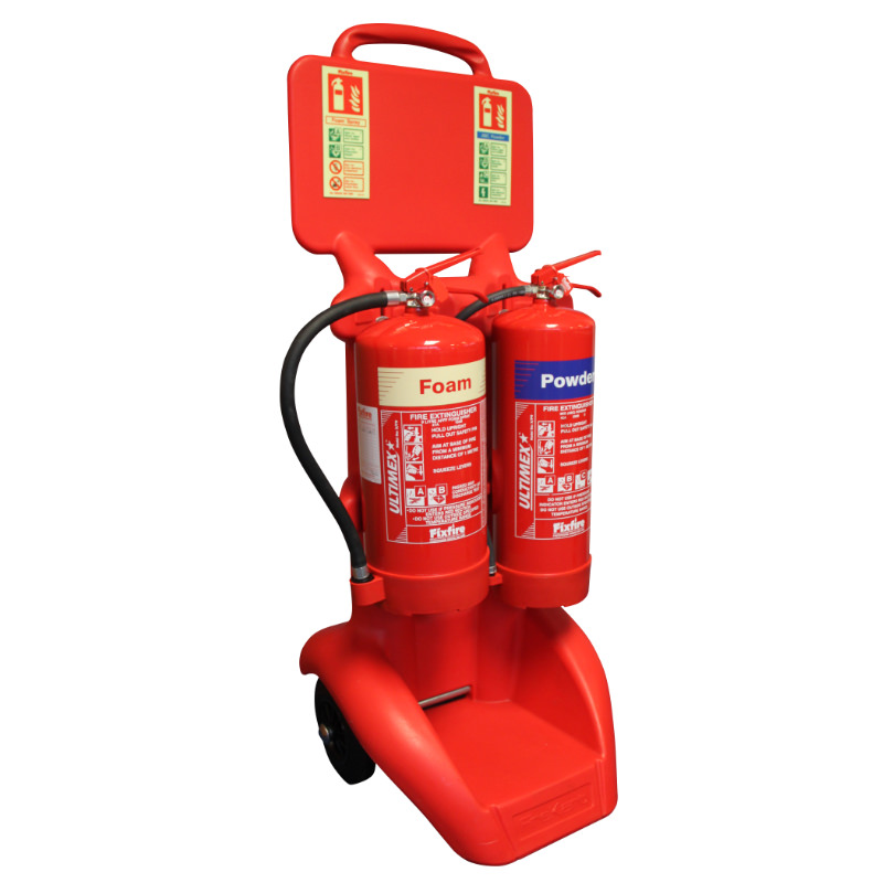 Double Extinguisher FireKart Trolley
