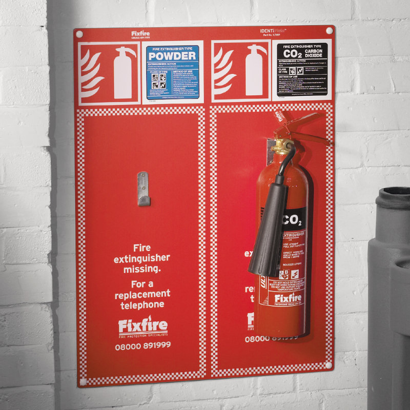 IdentiPlate Fire Extinguisher Backplate