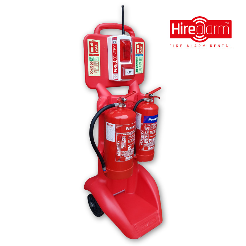 FireKart double extinguisher trolley complete with Fire Sentry Wireless Call Point