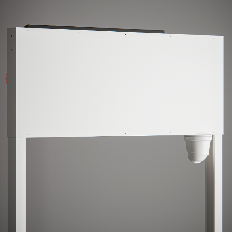 Integrated controls enclosed within rear transom panel