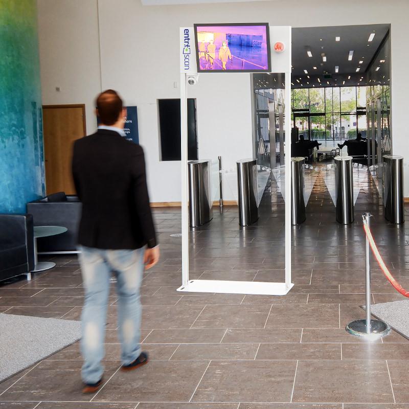 Installation in corporate reception environment
