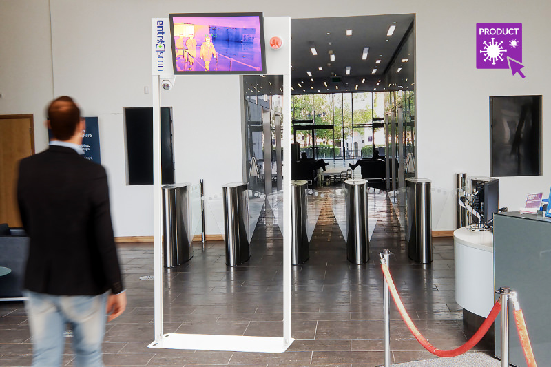 EntriScan™ installation in corporate reception environment
