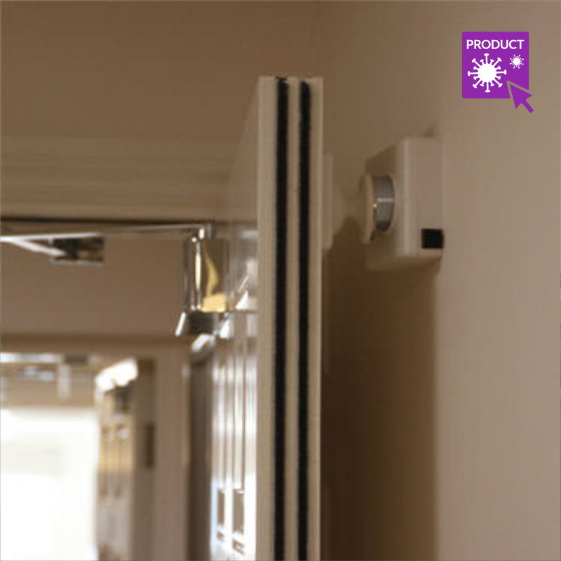 Photo of a Magnetic Door Retainer of Fire Door Hold Back Devices