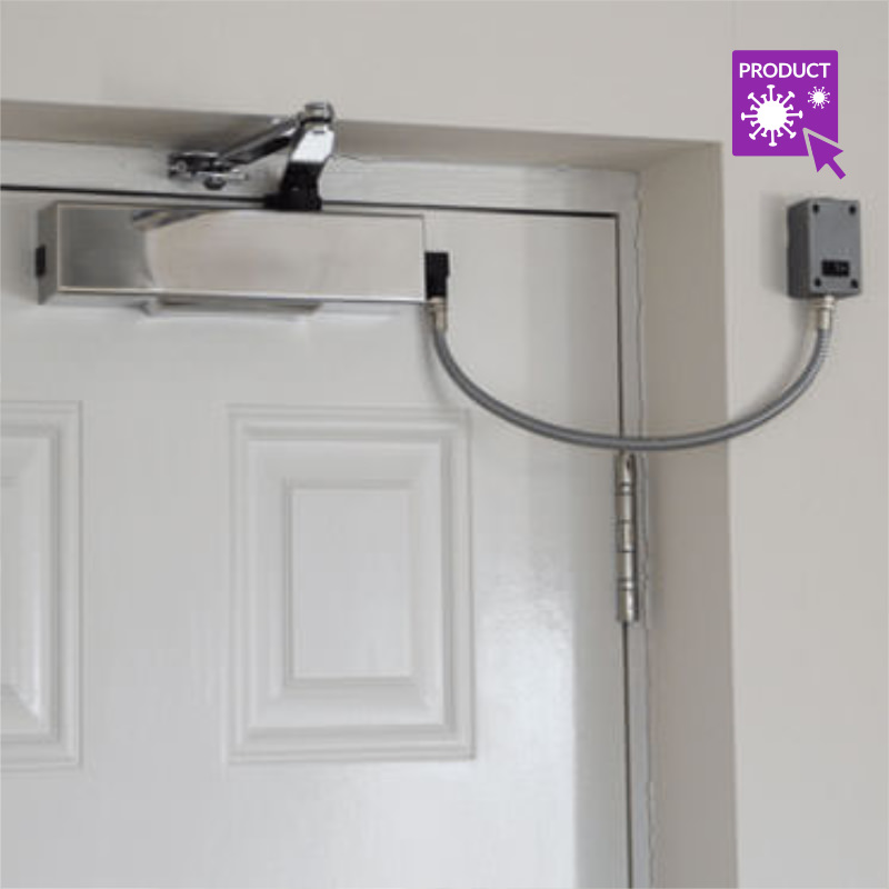 Installation of Fire Door Hold Back Devices - Electromagnetic Door Closer