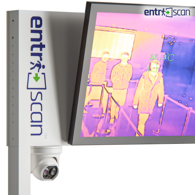 Integrated temperature screening camera and optional real-time Occupant Counter