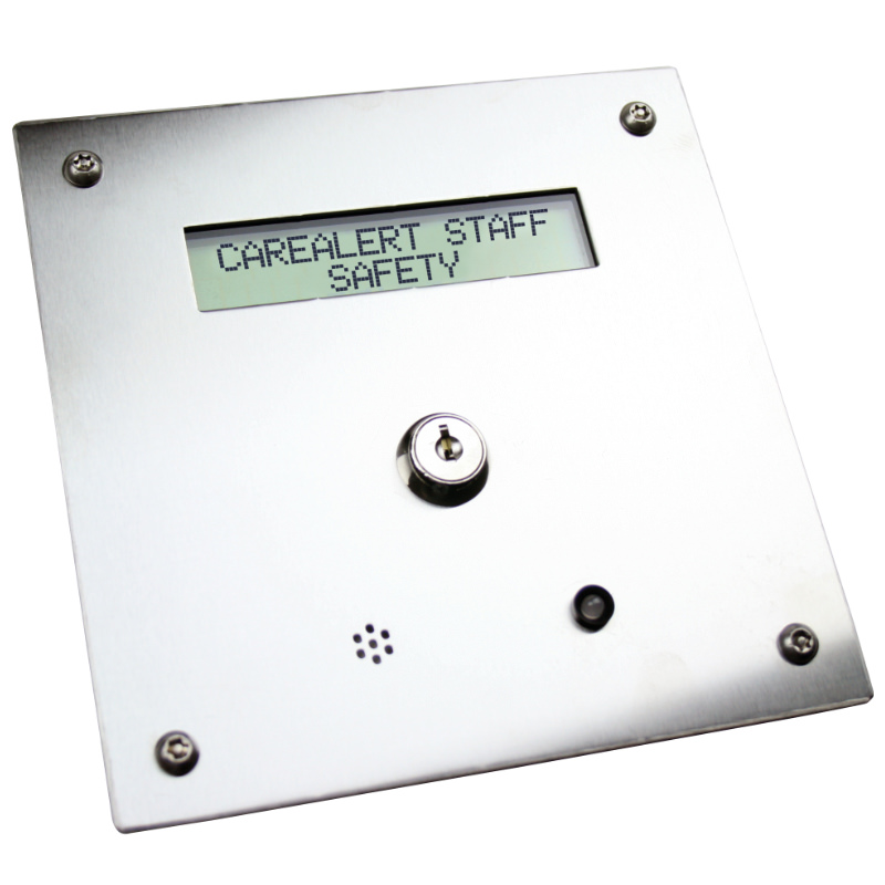 Stainless steel display console Stainless steel anti ligature call button Guardian systems - Staff Attack Systems