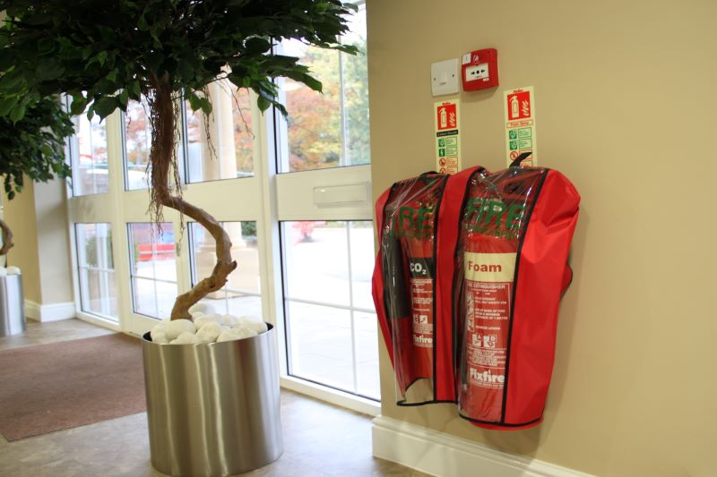 Ultimex™ Fire Extinguishers with protective anti-tamper cover