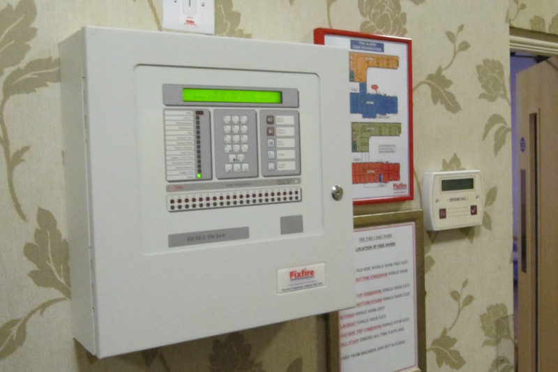 Fire Alarm Panel, Zone Chart & Nurse Call System
