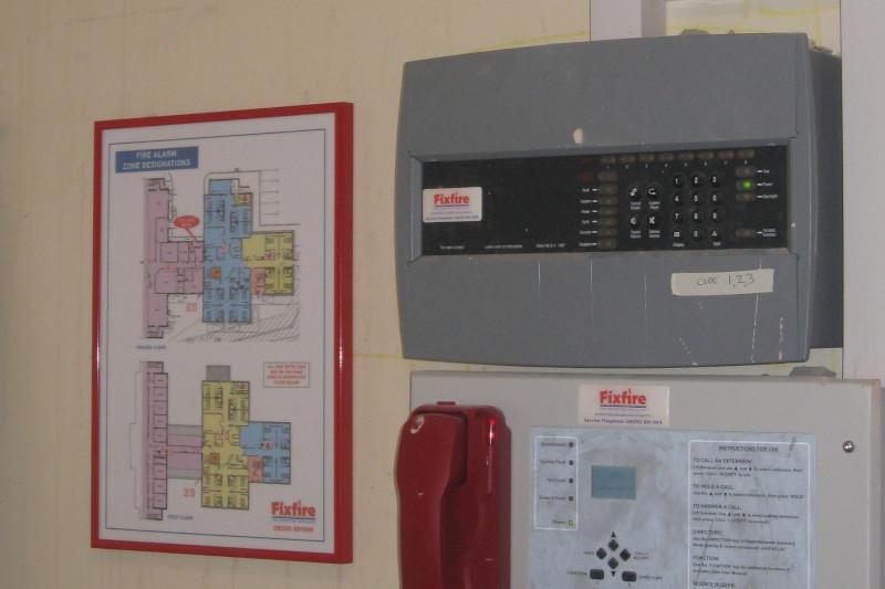 Conventional Fire Alarm Panel & Zone Chart