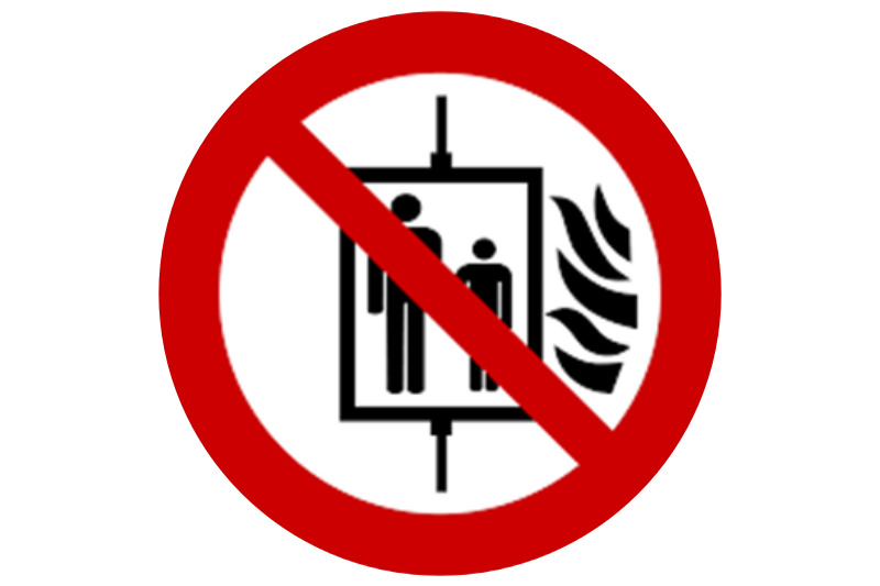 It is recommend that lifts which are not required to operate in the event of fire are recalled and taken out of service.