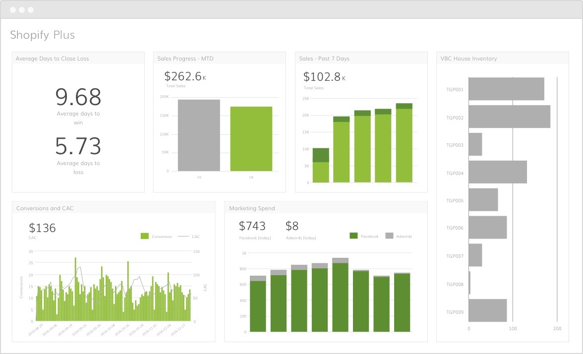 Shopify Plus analytics dashboard