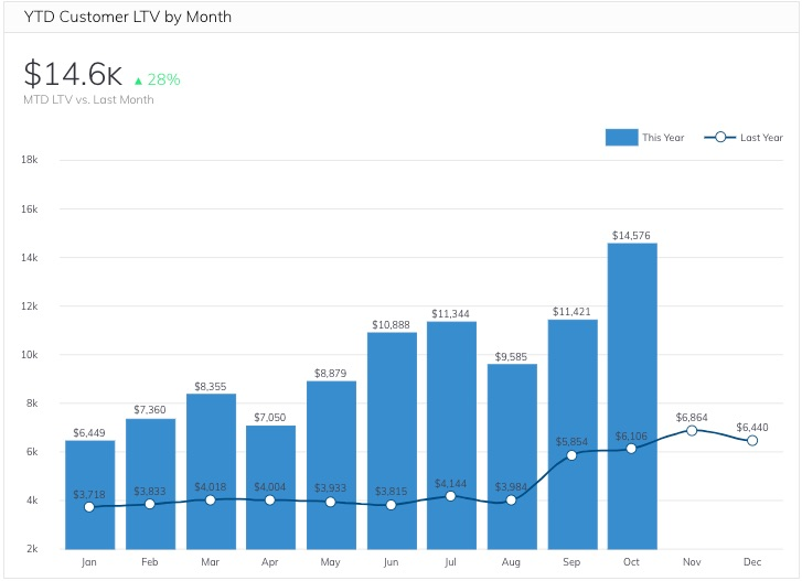 Year-to-Date-Customer-Lifetime-Value-by-Month-Metric