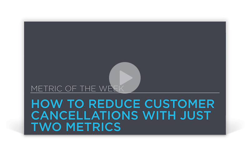 Metric of the Week: How to Reduce Customer Cancellations With Just Two Metrics