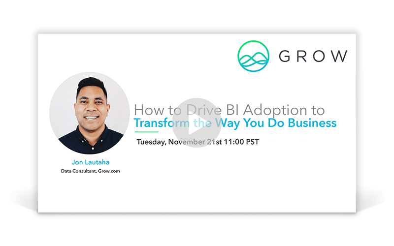 How to Drive BI Adoption to Transform the Way You Do Business