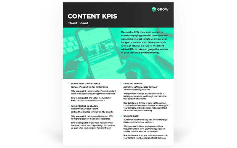 Content Marketing KPIs Cheat Sheet