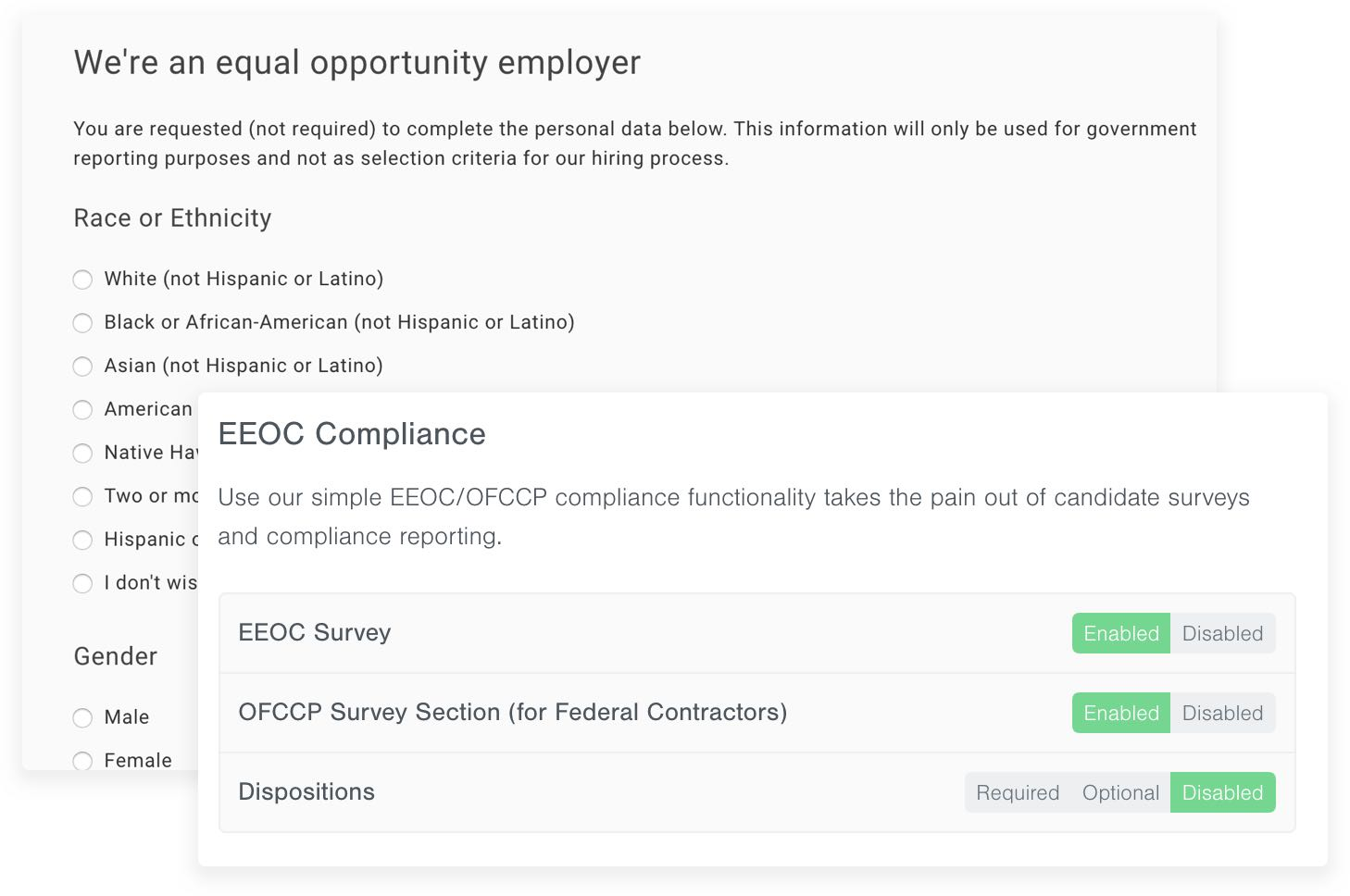 EEOC Compliance Screenshot