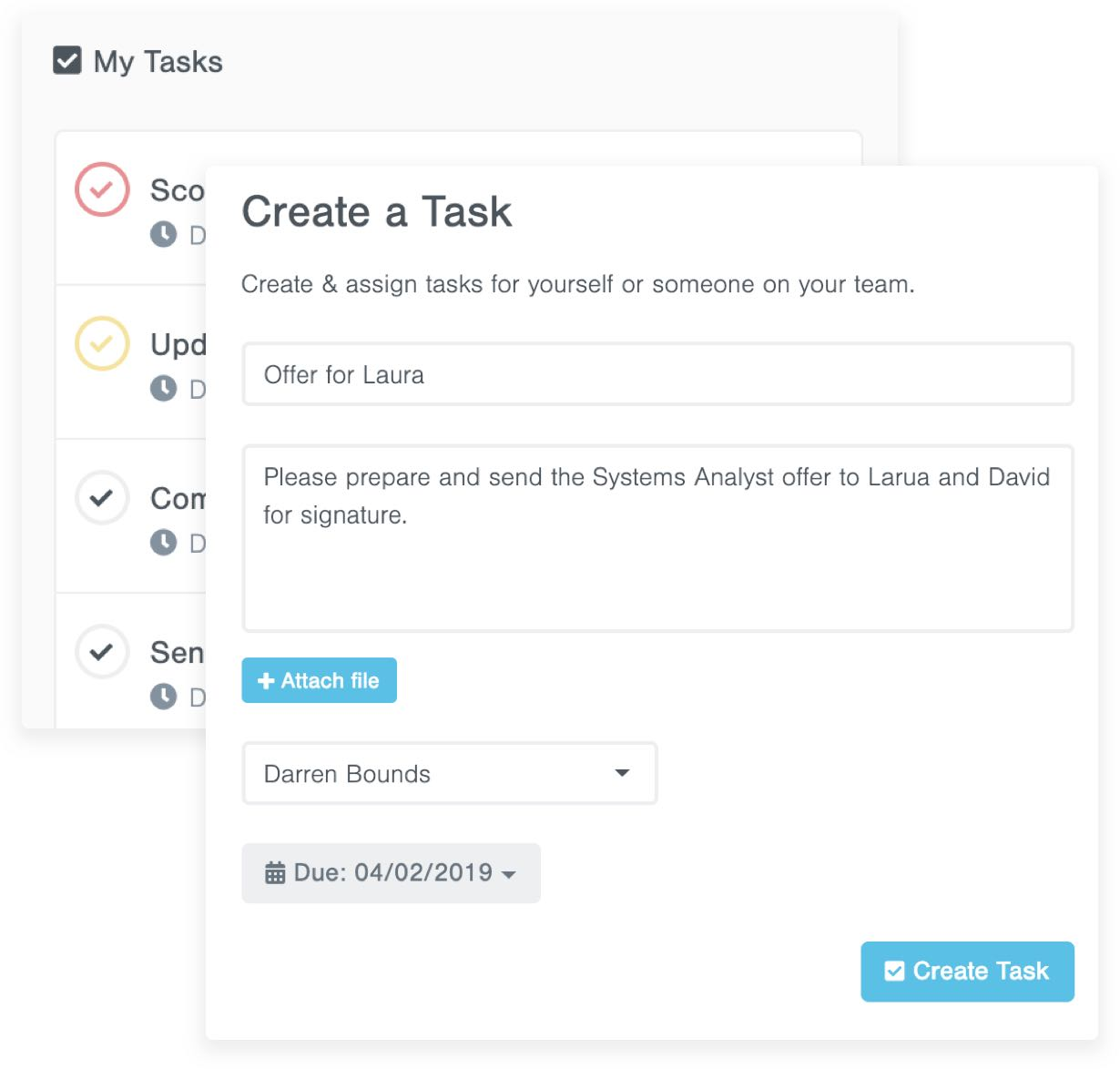 Create and Assign Tasks