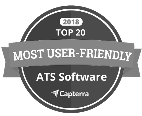 Capterra Most User-Friendly ATS Software Award Badge