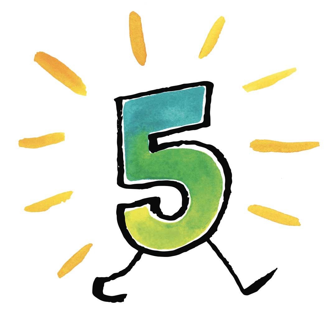 Number five walking
