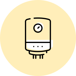 Icon for an electric hot water system