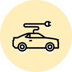 An icon of an Electric Vehicle