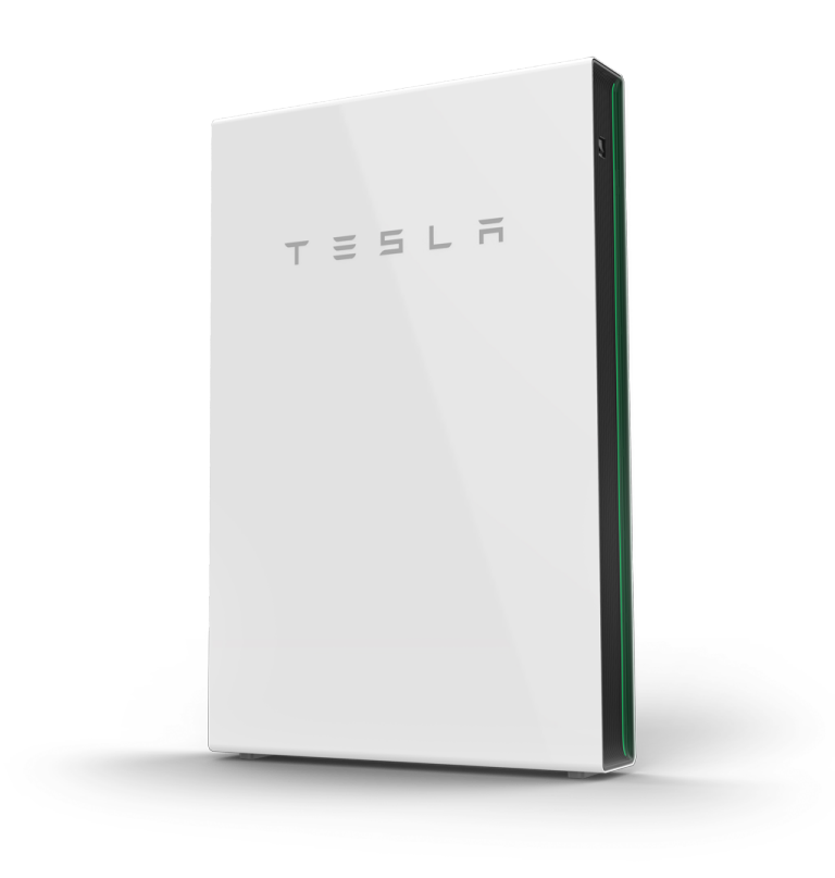 Image of a Telsa Powerwall home battery