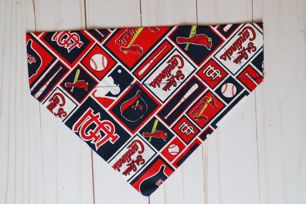 Handmade Dog Vintage Cardinals Bandana