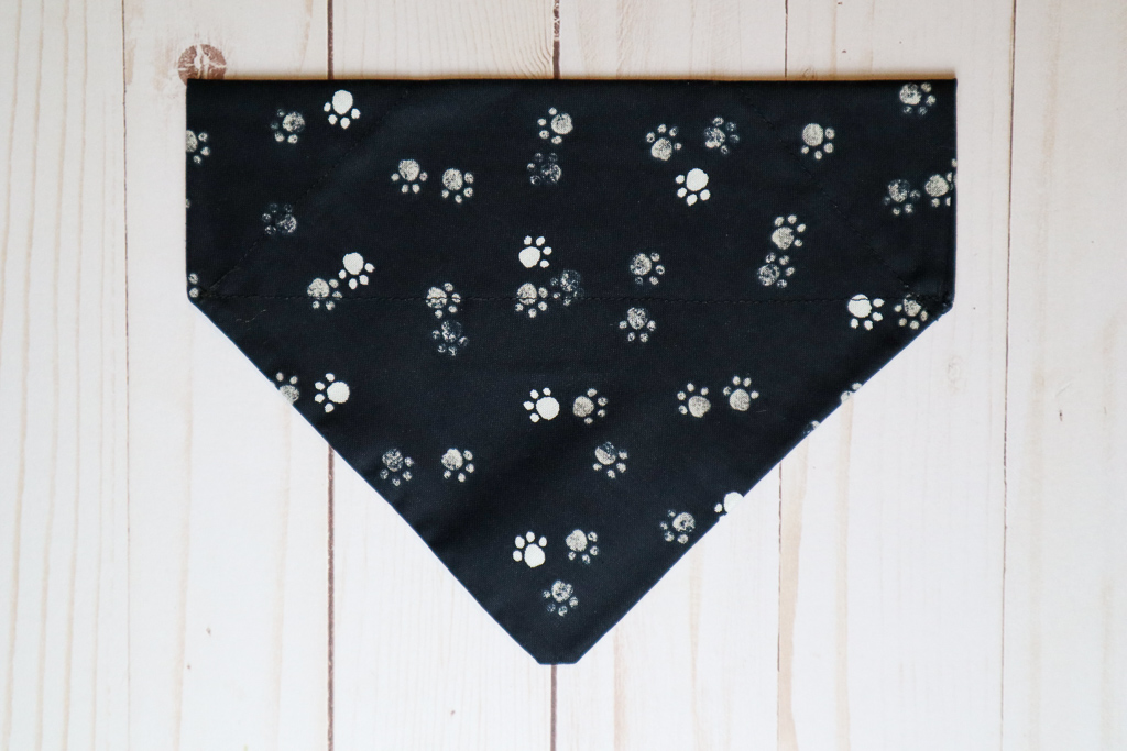 Handmade Pawprints Dog Bandana
