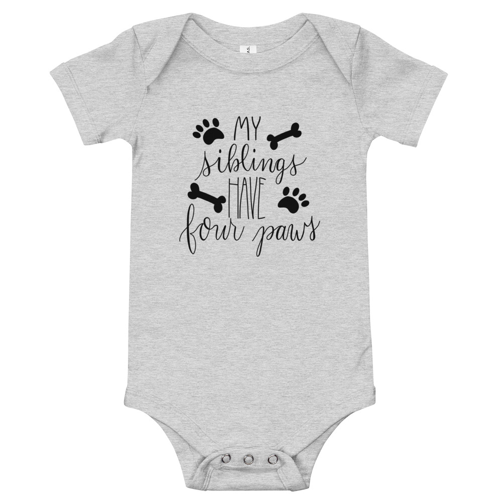 Baby Onesie - My Siblings have four paws