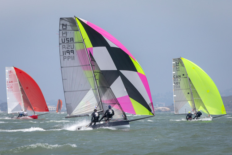 Saildrone wing design contest International 14 skiffs